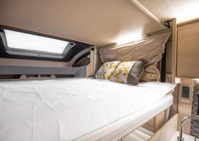 Cumbria Motorhome Hire Auto Trail F74 drop-down bed
