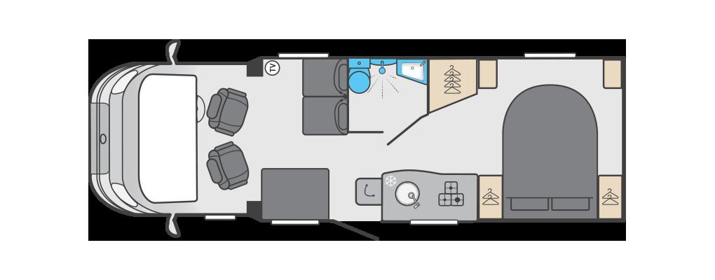 Swift Edge 494 layout day
